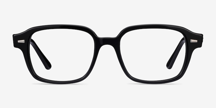 Ray-Ban RB5382 Black Acetate Eyeglass Frames from EyeBuyDirect, Front View
