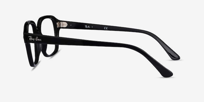 Ray-Ban RB5382 Black Acetate Eyeglass Frames from EyeBuyDirect, Side View