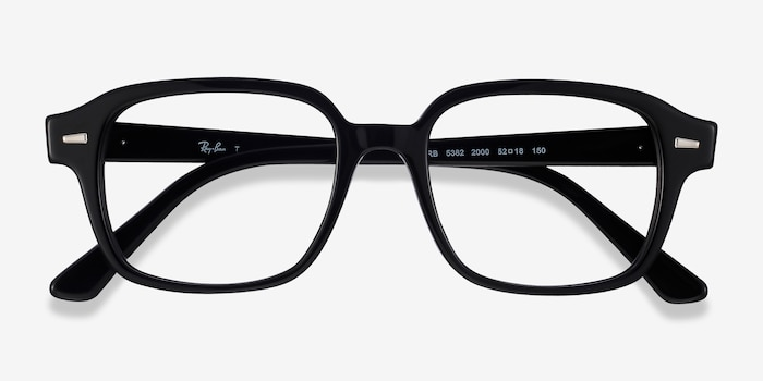 Ray-Ban RB5382 Black Acetate Eyeglass Frames from EyeBuyDirect, Closed View