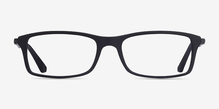 Ray-Ban RB7017 Black Plastic Eyeglass Frames from EyeBuyDirect, Front View