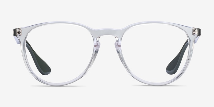 Ray-Ban RB7046 Clear Green Plastic Eyeglass Frames from EyeBuyDirect, Front View