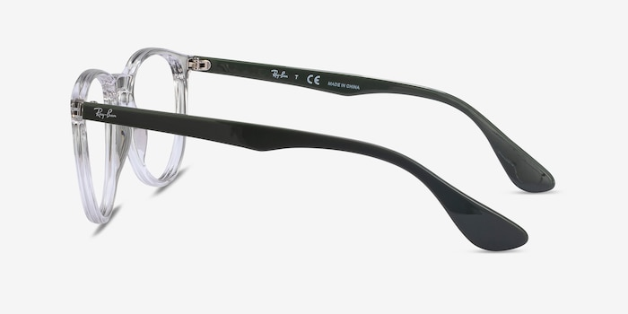 Ray-Ban RB7046 Clear Green Plastic Eyeglass Frames from EyeBuyDirect, Side View