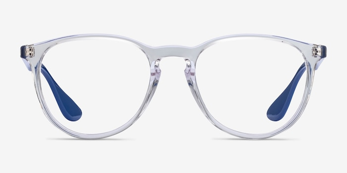 Ray-Ban RB7046 Clear Blue Plastic Eyeglass Frames from EyeBuyDirect, Front View