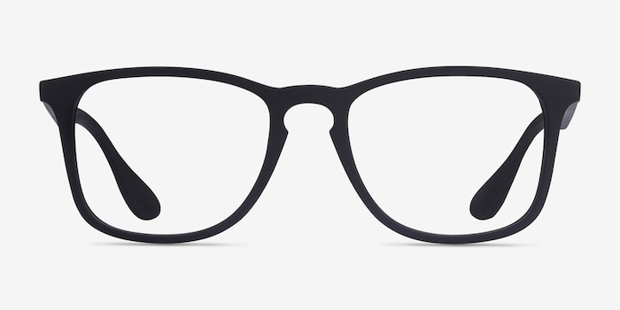 Ray-Ban RB7074 Black Plastic Eyeglass Frames from EyeBuyDirect, Front View