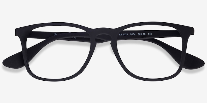 Ray-Ban RB7074 Black Plastic Eyeglass Frames from EyeBuyDirect, Closed View