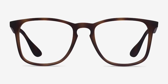 Ray-Ban RB7074 Tortoise Plastic Eyeglass Frames from EyeBuyDirect, Front View