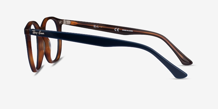 Ray-Ban RB7151 Blue Tortoise Acetate Eyeglass Frames from EyeBuyDirect, Side View