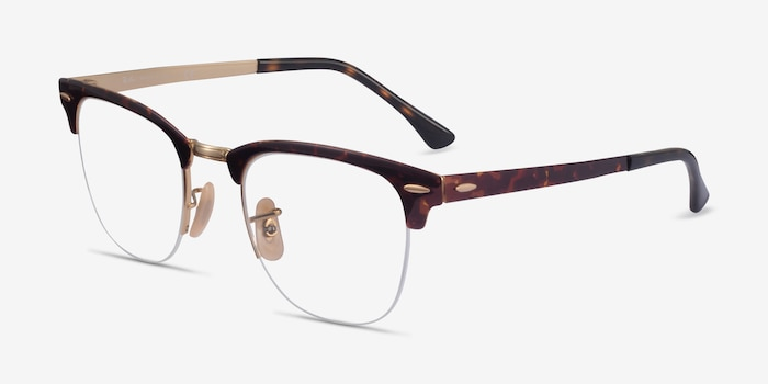 Ray-Ban RB3716VM Floral & Gold Metal Eyeglass Frames from EyeBuyDirect, Angle View
