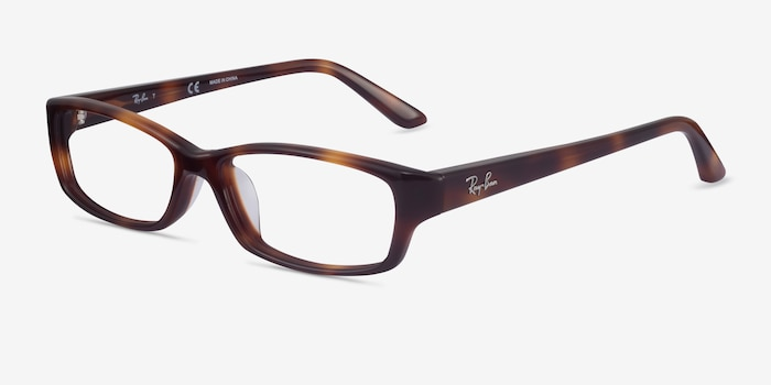Ray-Ban RB5272 Tortoise Acetate Eyeglass Frames from EyeBuyDirect, Angle View