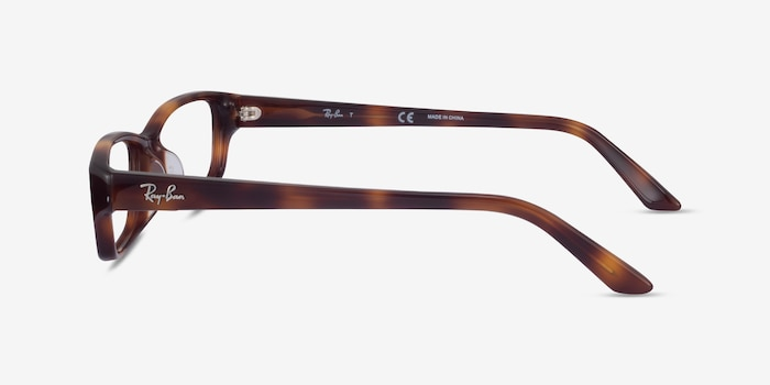 Ray-Ban RB5272 Tortoise Acetate Eyeglass Frames from EyeBuyDirect, Side View