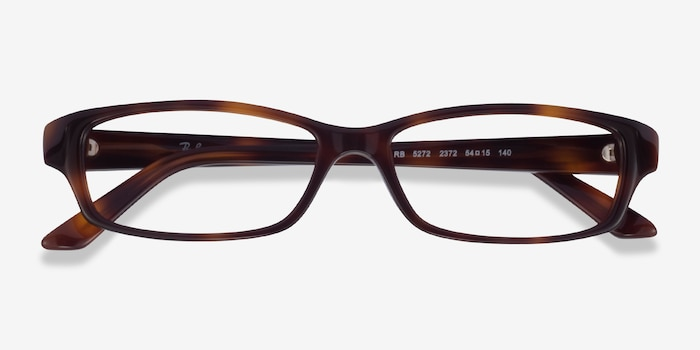 Ray-Ban RB5272 Tortoise Acetate Eyeglass Frames from EyeBuyDirect, Closed View