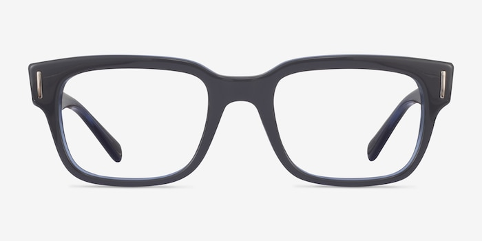 Ray-Ban RB5388 Gray & Blue Acetate Eyeglass Frames from EyeBuyDirect, Front View