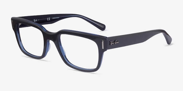 Ray-Ban RB5388 Gray & Blue Acetate Eyeglass Frames from EyeBuyDirect, Angle View