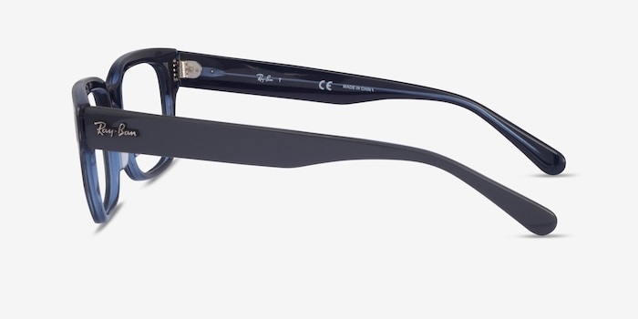 Ray-Ban RB5388 Gray & Blue Acetate Eyeglass Frames from EyeBuyDirect, Side View