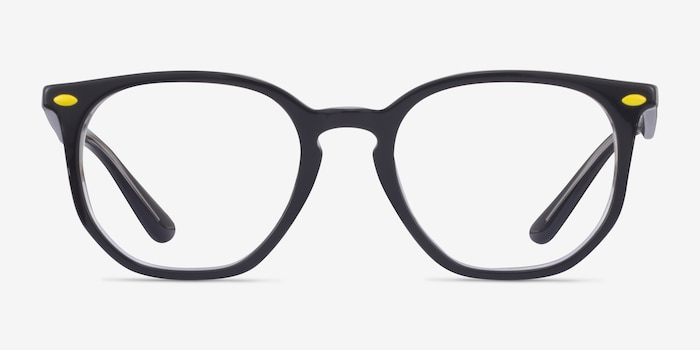 Ray-Ban RB7151M Gray & Clear Acetate Eyeglass Frames from EyeBuyDirect, Front View