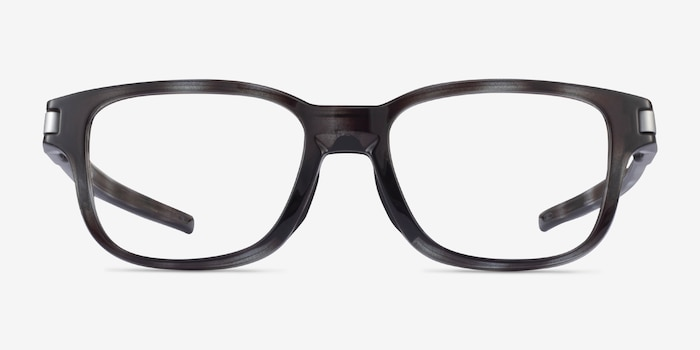 Oakley Latch SS Gray Tortoise Plastic Eyeglass Frames from EyeBuyDirect, Front View