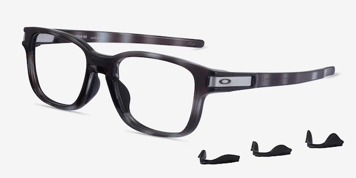 Oakley Latch SS Gray Tortoise Plastic Eyeglass Frames from EyeBuyDirect, Angle View