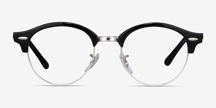Ray-Ban RB4246V Black Metal Eyeglass Frames from EyeBuyDirect, Front View
