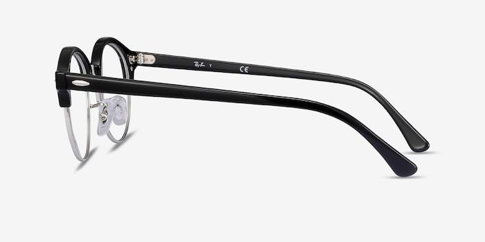 Ray-Ban RB4246V Black Metal Eyeglass Frames from EyeBuyDirect, Side View