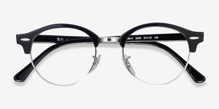 Ray-Ban RB4246V Black Metal Eyeglass Frames from EyeBuyDirect, Closed View