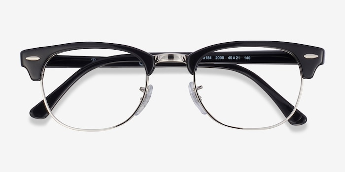 Ray-Ban RB5154 Black Acetate-metal Eyeglass Frames from EyeBuyDirect, Closed View