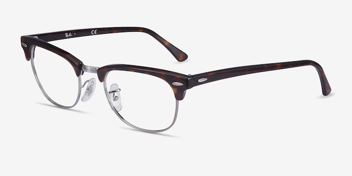 Ray-Ban RB5154 Tortoise Acetate Eyeglass Frames from EyeBuyDirect, Angle View