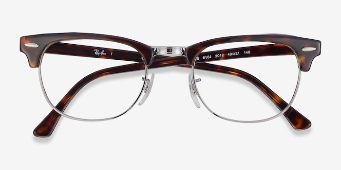Ray-Ban RB5154 Tortoise Metal Eyeglass Frames from EyeBuyDirect, Closed View