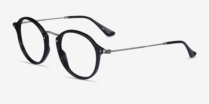 Ray-Ban RB2447V Black Plastic Eyeglass Frames from EyeBuyDirect, Angle View