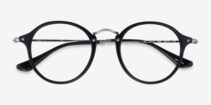 Ray-Ban RB2447V Black Plastic Eyeglass Frames from EyeBuyDirect, Closed View
