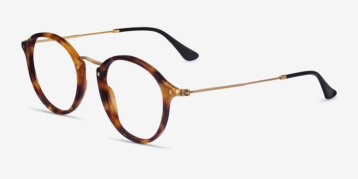 Ray-Ban RB2447V Tortoise Acetate-metal Eyeglass Frames from EyeBuyDirect, Angle View