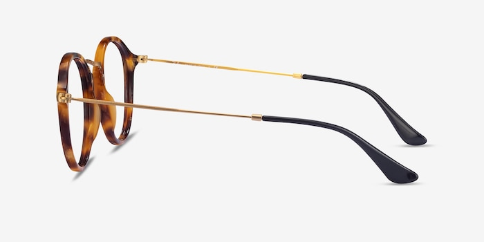 Ray-Ban RB2447V Tortoise Acetate-metal Eyeglass Frames from EyeBuyDirect, Side View