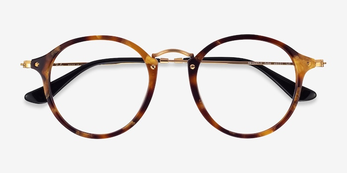 Ray-Ban RB2447V Tortoise Acetate-metal Eyeglass Frames from EyeBuyDirect, Closed View