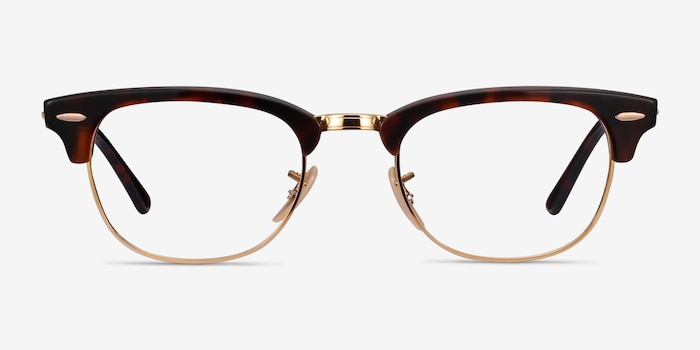 Ray-Ban RB5154 Gold Tortoise Metal Eyeglass Frames from EyeBuyDirect, Front View