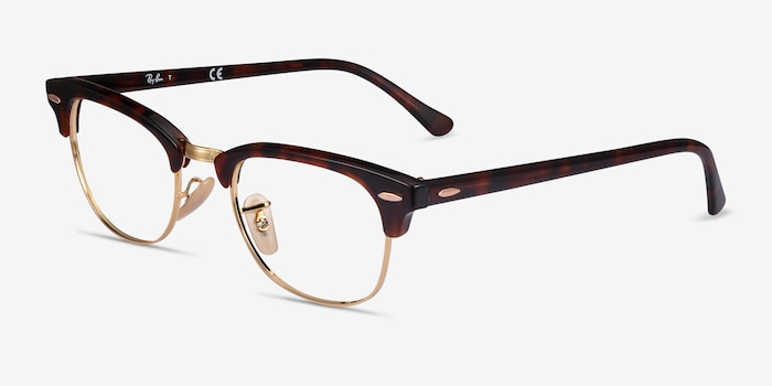 Ray-Ban RB5154 Gold Tortoise Acetate-metal Eyeglass Frames from EyeBuyDirect, Angle View