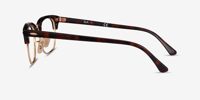 Ray-Ban RB5154 Gold Tortoise Metal Eyeglass Frames from EyeBuyDirect, Side View
