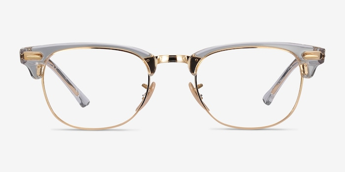 Ray-Ban RB5154 Gold Transparent Metal Eyeglass Frames from EyeBuyDirect, Front View