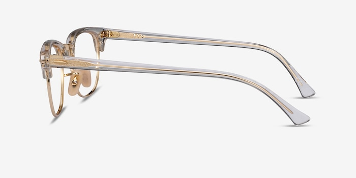 Ray-Ban RB5154 Gold Transparent Metal Eyeglass Frames from EyeBuyDirect, Side View