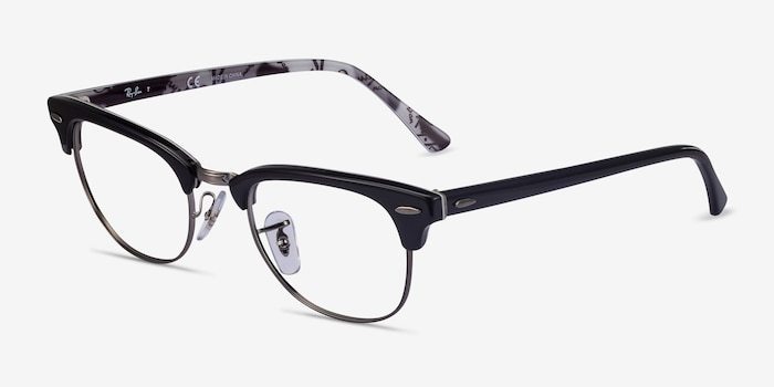 Ray-Ban RB5154 Black Multicolor Metal Eyeglass Frames from EyeBuyDirect, Angle View