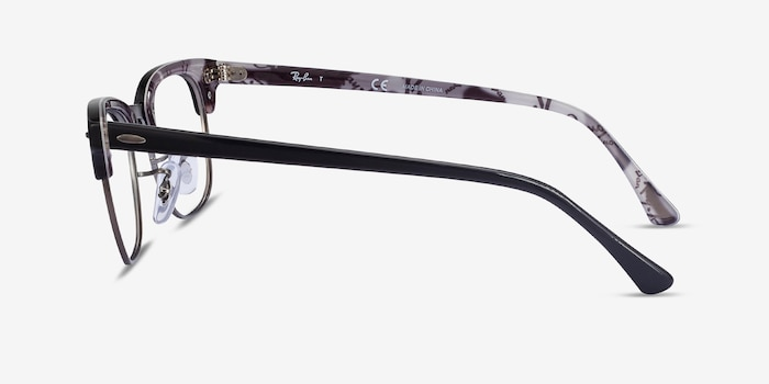 Ray-Ban RB5154 Black Multicolor Metal Eyeglass Frames from EyeBuyDirect, Side View