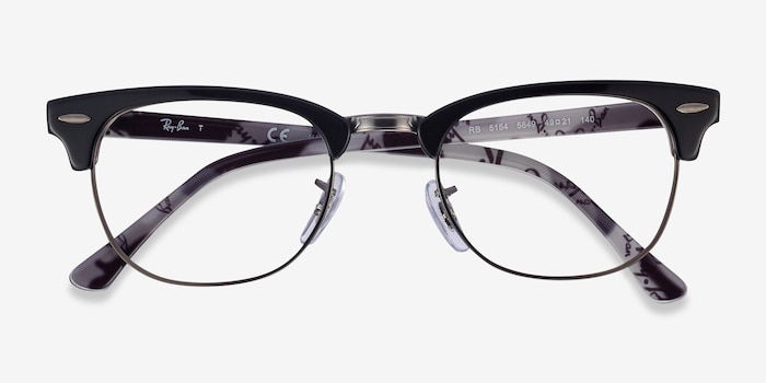 Ray-Ban RB5154 Black Multicolor Metal Eyeglass Frames from EyeBuyDirect, Closed View