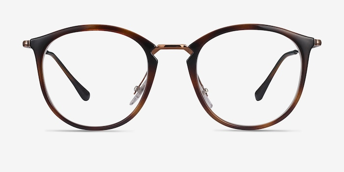 Ray-Ban RB7140 Tortoise Bronze Plastic-metal Eyeglass Frames from EyeBuyDirect, Front View