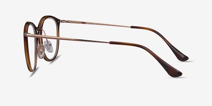 Ray-Ban RB7140 Tortoise Bronze Plastic-metal Eyeglass Frames from EyeBuyDirect, Side View
