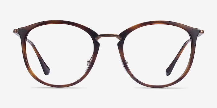 Ray-Ban RB7140 Tortoise Metal Eyeglass Frames from EyeBuyDirect, Front View