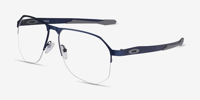 Oakley Tenon Matte Midnight Titanium Eyeglass Frames from EyeBuyDirect, Angle View