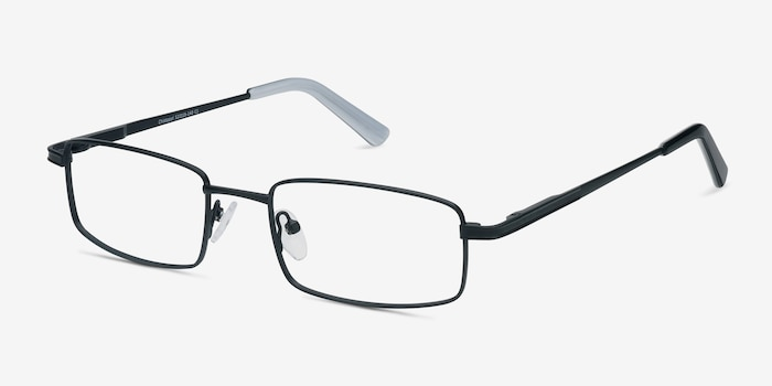 Chistopol Black Metal Eyeglass Frames from EyeBuyDirect, Angle View