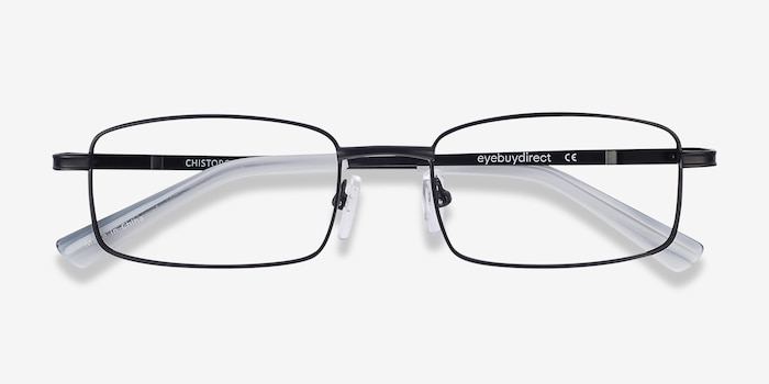 Chistopol Black Metal Eyeglass Frames from EyeBuyDirect, Closed View