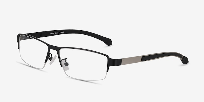 Lewis Black Metal Eyeglass Frames from EyeBuyDirect, Angle View