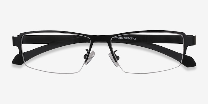 Lewis Black Metal Eyeglass Frames from EyeBuyDirect, Closed View
