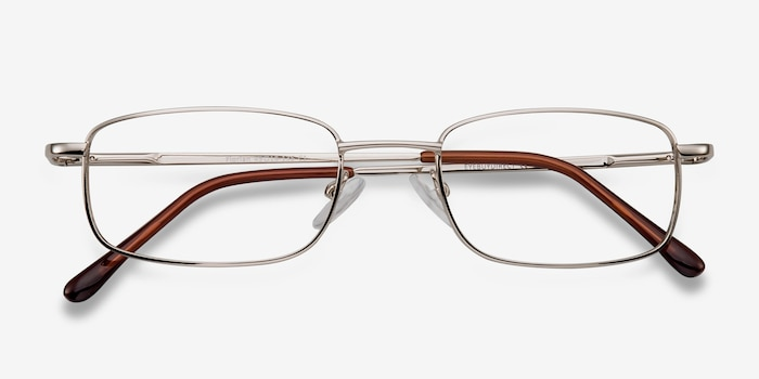 Florian Golden Metal Eyeglass Frames from EyeBuyDirect, Closed View