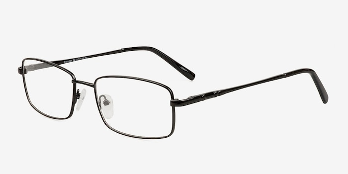 Braydon Black Metal Eyeglass Frames from EyeBuyDirect, Angle View